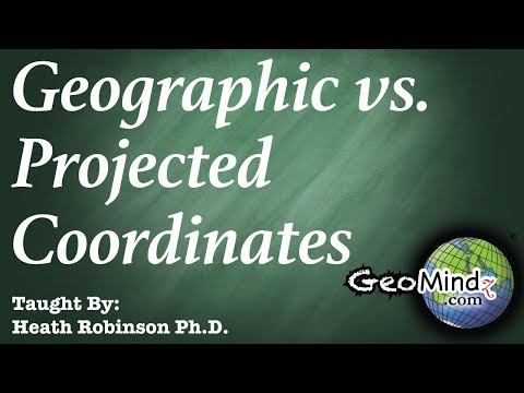 """""""Geographic Coordinate Systems""""  and """"Projected Coordinate Systems"""" in ArcGIS and ArcMap"""