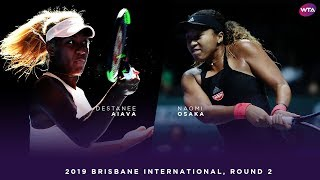 Naomi Osaka vs. Destanee Aiava | 2019 Brisbane International Second Round | 大坂なおみ