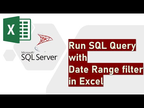 Run Sql Query With Date Range Filter In Excel Youtube