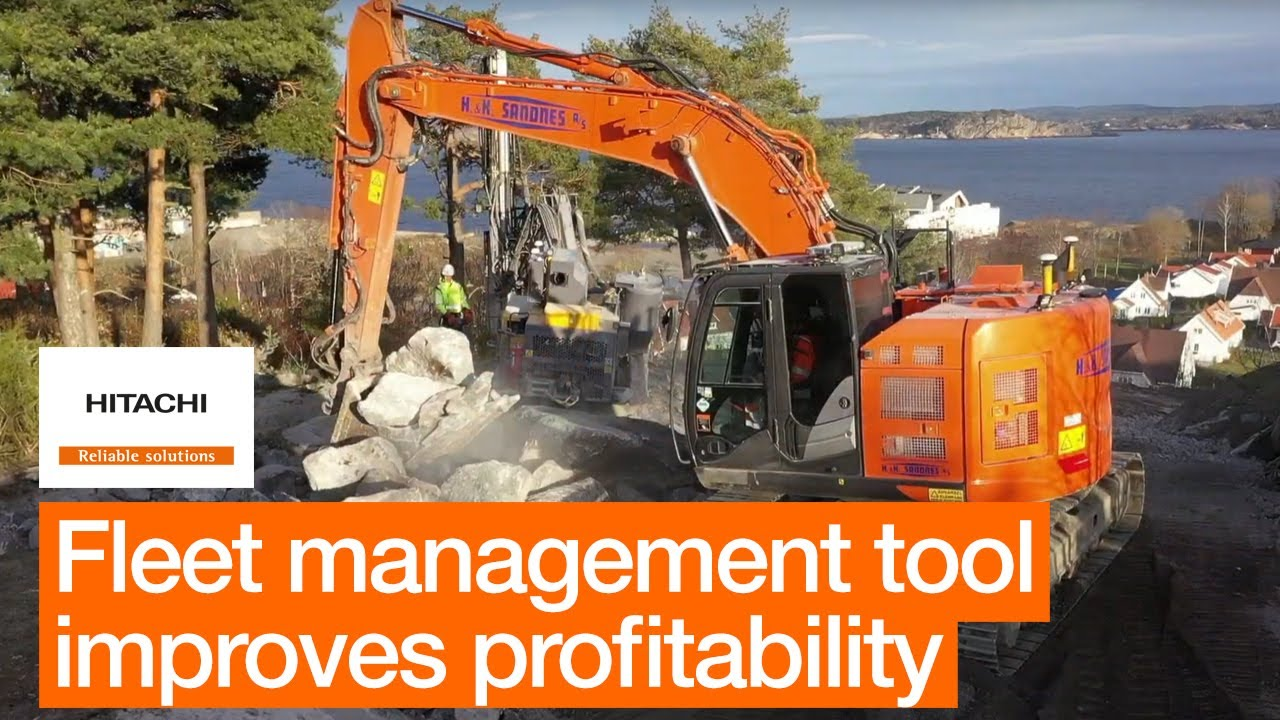 Hitachi excavators come with fleet management tool