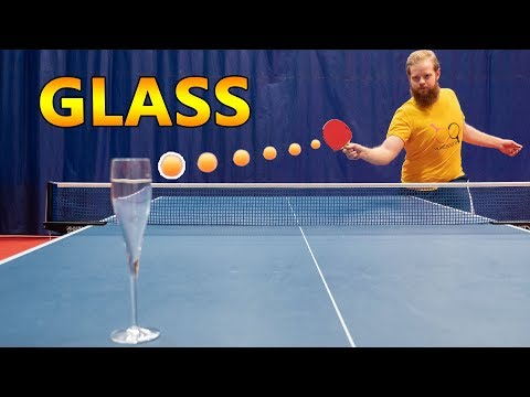 Break A Glass With A Ping Pong Shot