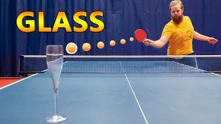 Can You Break a Glass with a Ping Pong Shot?