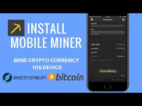 How to Mine Bitcoin on iPhone - Install Mobile Miner on iOS 11