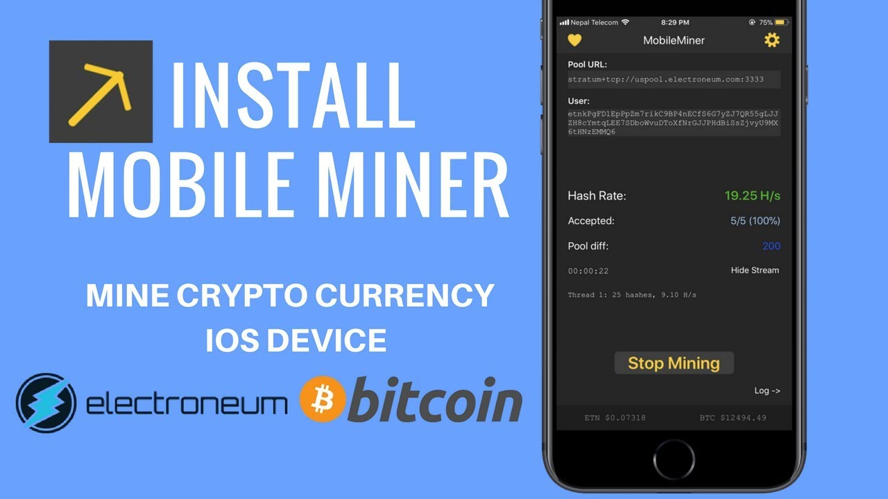 How to mine bitcoin on iphone install mobile miner on ios 11 youtube how to mine bitcoin on iphone install mobile miner on ios 11 ccuart Image collections