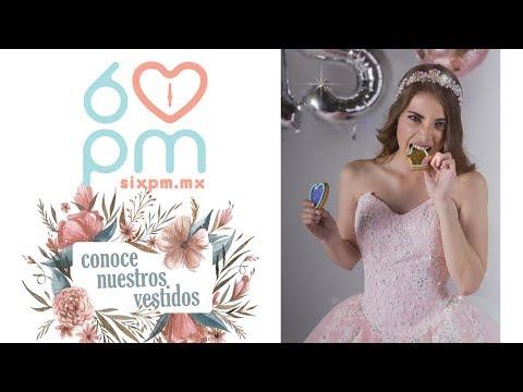 Los vestidos  de XV años mas hermosos 6pm Modelo : PARIS en rosa pastel