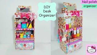 DIY Desk Organizer Cardboard / DIY Nail Polish Organizer /jewelry holder /Organizador De Esmaltes