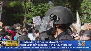 Tense Protests Take Place Across Pittsburgh On 4th Of July