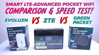 ALL SMART LTE ADVANCED POCKET WIFI COMPARISON AND SPEEDTEST   EVOLUZN vs ZTE vs GREENPACKET screenshot 4