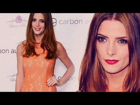 Ashley Greene Twilight Star Stuns in Tangerine! - YouTube