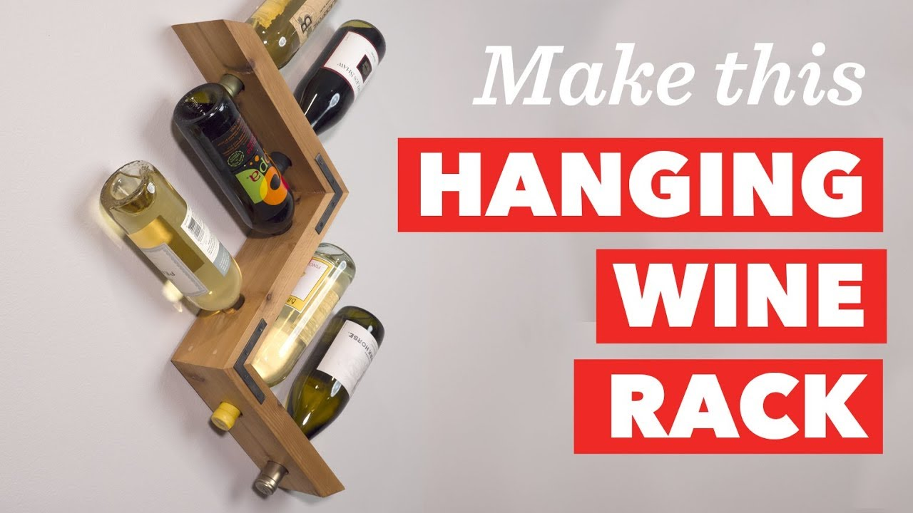 how to build a wall mounted wine rack