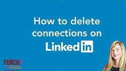 How to delete your connections on LinkedIn.