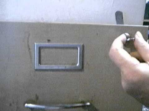 TRY-OUT KEY JIGGLED TO OPEN FILE CABINET LOCK - YouTube