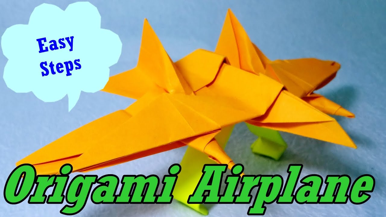 Uncategorized Paper Art For Kids Step By Step how to make paper airplane origami easy follow steps youtube