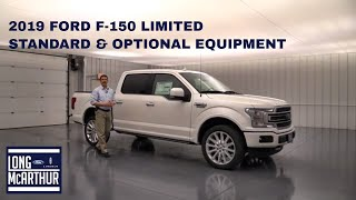 2019 FORD F-150 LIMITED STANDARD AND OPTIONAL EQUIPMENT