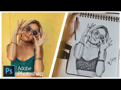How To Make A Draw Effect In Adobe Photoshop