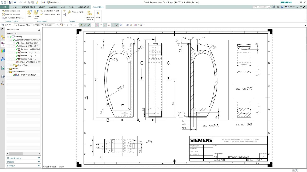 Siemens Nx 10 Drafting Youtube