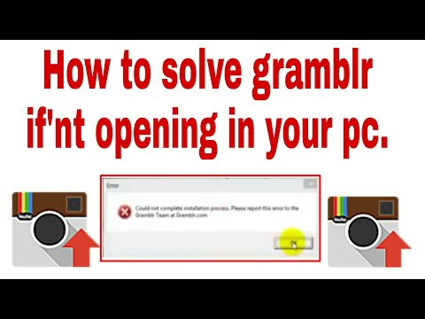 how to solve gramblr if not working    100% working - YouTube