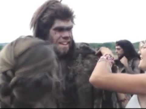 Борьба за огонь 1981 г  видео со съемок картины.