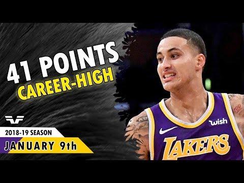 Kyle Kuzma Career-High - 2019.01.09 - Lakers vs Pistons - 41 Points