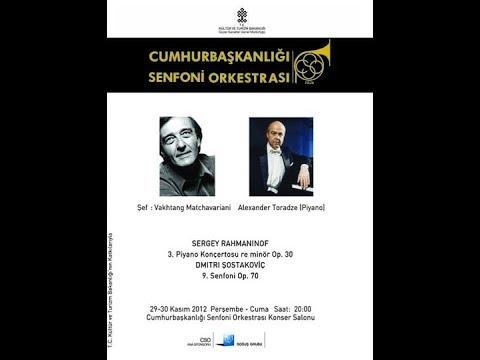 Rachmaninov Piano Concerto No.3 , Piano Alexander Toradze