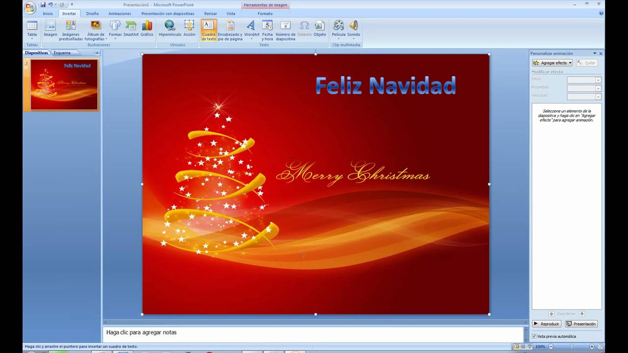 Cómo hacer christmas multimedia con powerpoint - YouTube