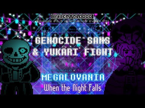 Undertale DDD (Eps 5 5) - Genocide Sans & Yukari vs  Chara Fight ~  Distortion Event #3