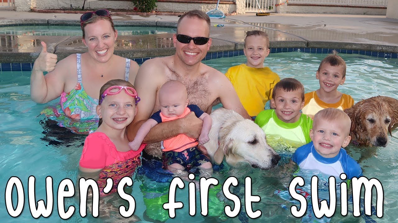 Baby Owens First Pool Swim Sharks Attack Mommy Family Fun Pack