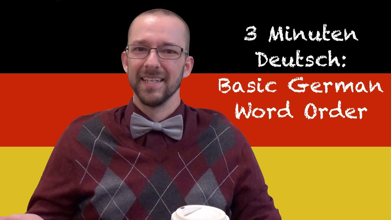 What word order should this be in german ?