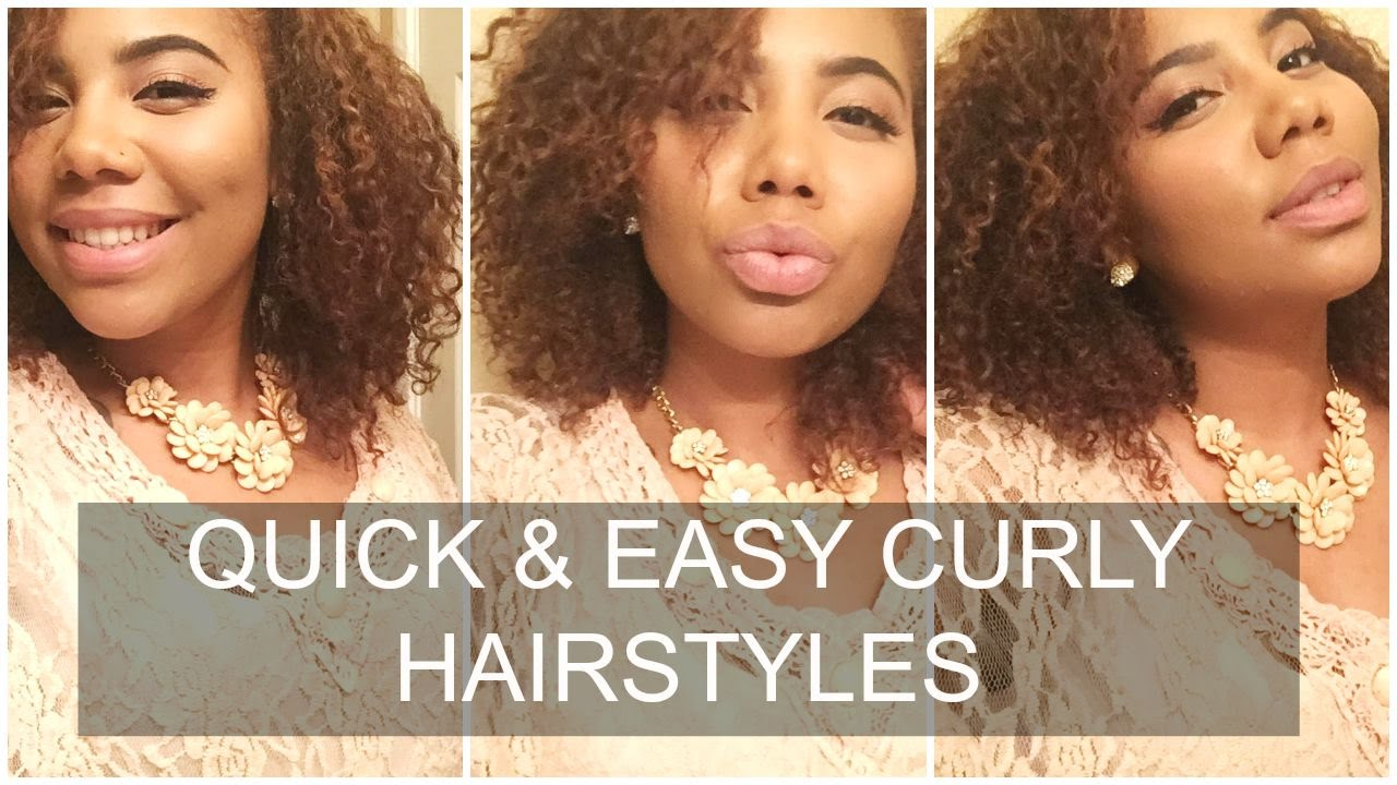 7 super cute quick and easy natural hairstyles for curly hair
