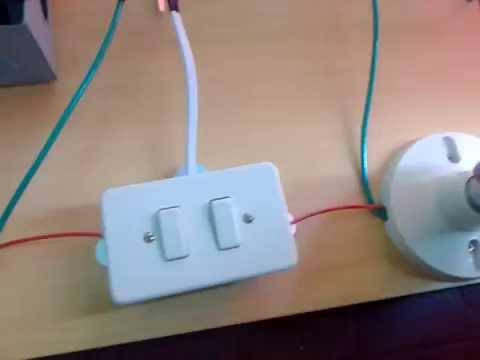 INSTALACION ELECTRICA CON DOBLE INTERRUPTOR