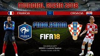 MUNDIAL RUSIA 2018 [FINAL]: Francia vs Croacia - FIFA 18
