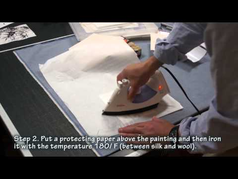 How to Dry Mount a Sumi Greeting Card with Silicone Paper