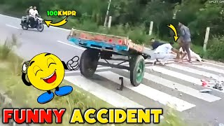 Funny road accidents | Funny accident try not to laugh 😆