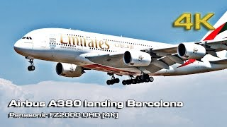 Emirates Airbus A380 with Panasonic FZ2000 UHD [4K]