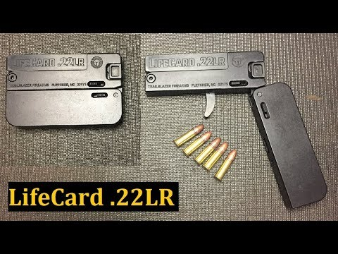 LifeCard 22 LR Pistol Worlds Thinnest Gun