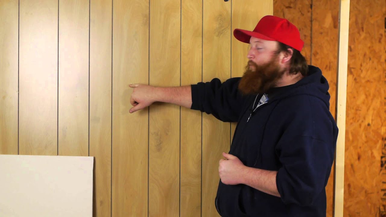 Drywalling Over Paneled Walls Drywall Help Youtube