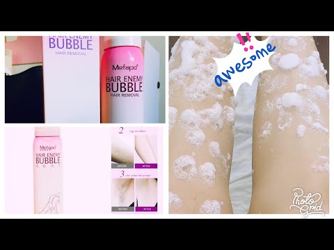 Bubble Spray Hair Removal Hair Enemy Bubble