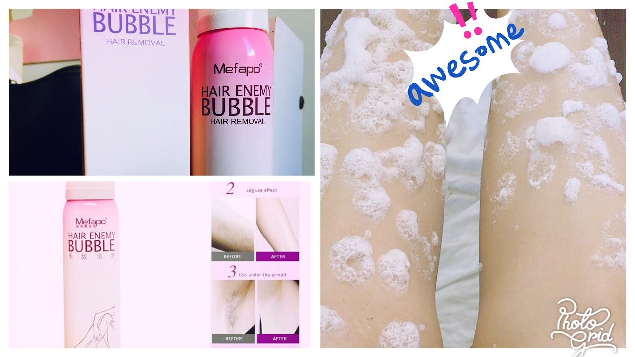 Bubble Spray Hair Removal Hair Enemy Bubble Youtube