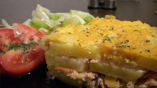 Salmon Potato Bake - Low Fat - Healthy -