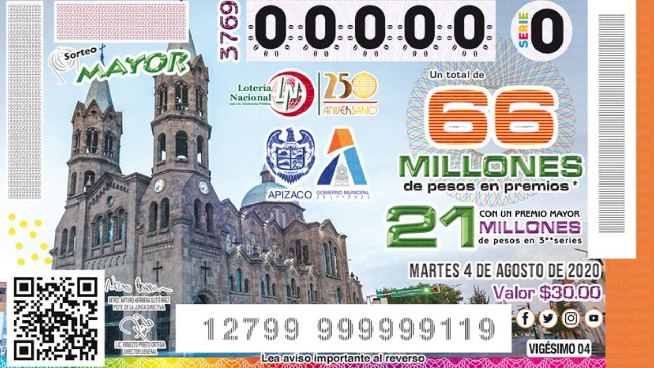 Sorteo Mayor No.3769 | Conmemorando el 154 Aniversario de Apizaco, Tlaxcala