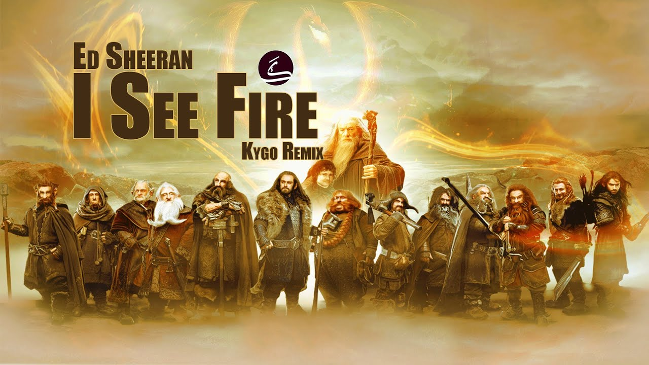 I See Fire, Ed Sheeran, Kygo Remix (Lyrics Video)