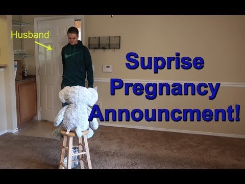 HUSBANDS SWEET REACTION TO FIRST PREGNANCY!