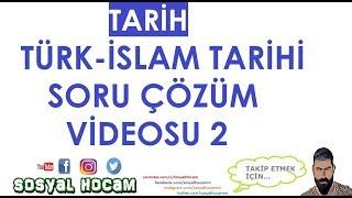 2018 Türk-İslam Tarihi Soru Çözümü 2 (KPSS - TYT - YKS) Canlı Yayın Kaydı