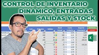 Cómo crear un #CONTROL DE #INVENTARIO dinámico con #ENTRADAS, #SALIDAS y  #STOCK