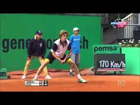 Andrey Rublev vs Marin Cilic FULL MATCH Geneva 2015 PART 2