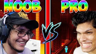 Level 1 Noob vs Level 100 Pro in Minecraft Nether!!