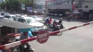 CAMBODIA:  PHNOM PENH: TRAIN TO AIRPORT:  FULL RIDE