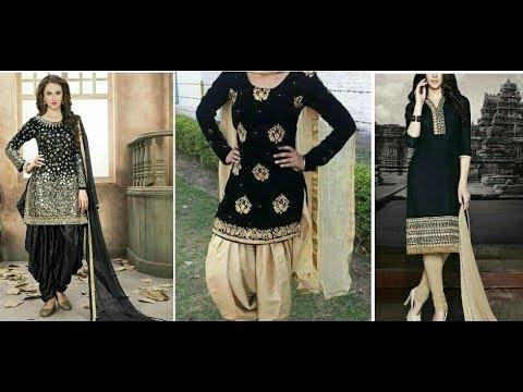 Black Golden Suit\ Kurti\ Salwar kameez design \\ Party wear dress design