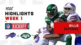 Bills D Knocks Jets Around w/ 4 Sacks | NFL 2019 Highlights