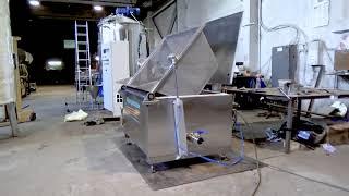 видео Прямоугольный варочный котел с автоматическим выгружным устройством.